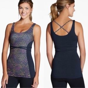 Fabletics Hawthorne Black Criss Cross Tank Top